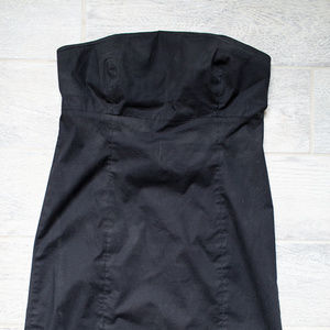 Gap Strapless Black Dress